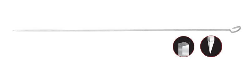 1- Rostfreier quadratischer Leberspieß / quadratischer Kurzer Spieß