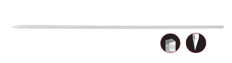 Stainless Steel Thick Square Skewer 6mm